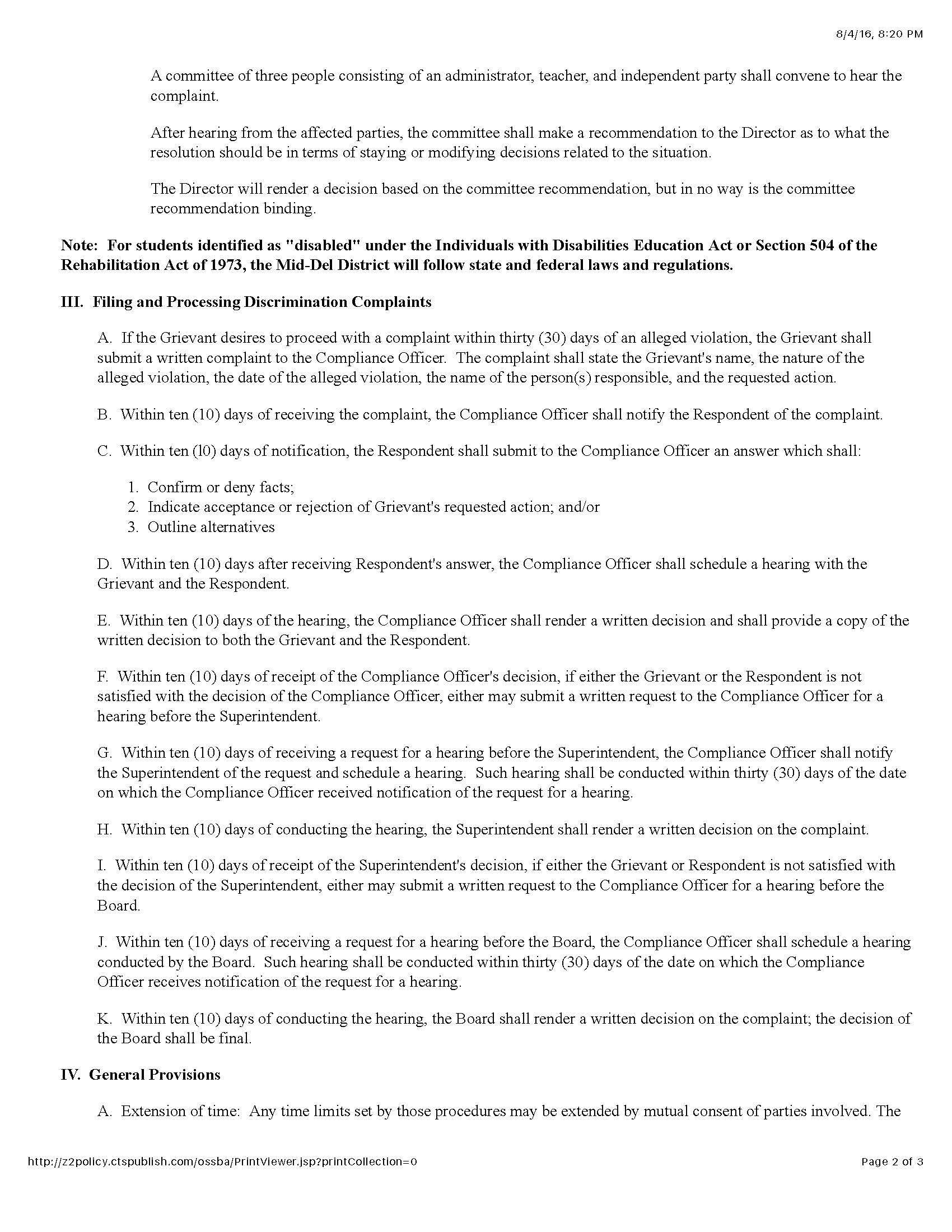 Policy C-22 Grievance and Complaint ProceduresPage 2_Page_2